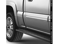 Chevrolet Silverado Assist Steps - Molded,Note:Grained Finish,Black,Regular or Extended Cab; - 12370487