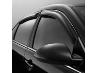 Chevrolet Impala Front and Rear Tape-On Side Door Window Weather Deflector Set in Smoke Black - 19243419