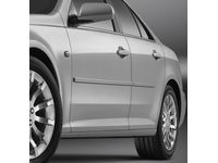 GM Front and Rear Smooth Door Moldings in Black - 17800509