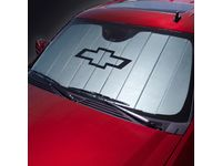 GM 23447618 Front Sunshade Package in Silver with Black Bowtie Logo