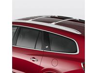 Buick Removable Roof Rack T-Slot Cross Rails in Bright Anodized Aluminum - 19170765