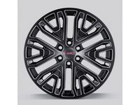 Chevrolet Silverado 22x9-Inch Aluminum Wheel in Low Gloss Black with Select Machine Face - 84040799