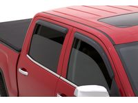 GMC Double Cab In-Channel Window Weather Deflectors in Smoke Black by Lund - 19302685