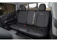 Chevrolet Colorado Rear Seat Cover Set in Jet Black with Bowtie Logo (without Armrest) - 23438867