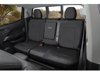 Chevrolet Colorado Rear Seat Cover Set in Jet Black with Bowtie Logo (with Armrest) - 23438868