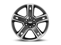 Chevrolet Tahoe 22x9-Inch Aluminum 5-Split-Spoke Wheel in Ultra Bright Machined with Gloss Black - 19301160