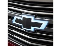 Chevrolet Tahoe Front Illuminated and Rear Non-Illuminated Bowtie Emblems in Black - 84751544