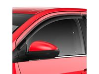 Chevrolet Sonic Front and Rear Tape-On Window Weather Deflectors in Smoke Black - 42557969