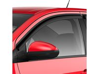 Chevrolet Sonic Front and Rear Tape-On Window Weather Deflectors in Smoke Black - 42557970