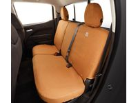 Chevrolet Colorado Carhartt Crew Cab Rear Full Bench Seat Cover Package in Brown (without Armrest) - 84301779
