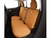 Chevrolet Colorado Carhartt Crew Cab Rear Full Bench Seat Cover Package in Brown (with Armrest) - 84301781
