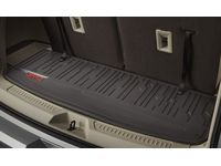 GM 23357004 Premium All-Weather Cargo Area Mat in Cocoa with GMC Logo