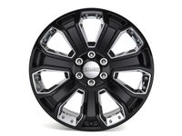 Chevrolet Tahoe 22 x 9-Inch Aluminum 7 Spoke Gloss Black Wheel with Chrome Inserts - 84340647
