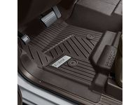 GMC First-Row Interlocking Premium All-Weather Floor Liner in Cocoa with GMC Logo (for Models without Center Console) - 84357865