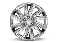 Chevrolet Tahoe 22x9-Inch Aluminum 6-Split-Spoke Wheel in Midnight Silver with Chrome Inserts - 84040800