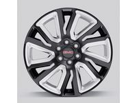Chevrolet Tahoe 22 x 9-inch 6-Split-Spoke Wheel in High Gloss Black with Chrome Inserts - 84253949