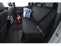 GMC Savana Rear Bench Seat Cover by Aries™ Manufacturing in Black - 19367173