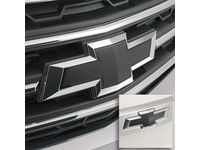 GM Front and Rear Bowtie Emblems in Black - 23213446