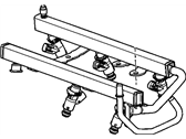 Chevrolet Uplander Fuel Rail - 12584908