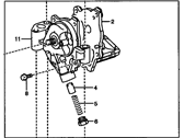 Pontiac Vibe Oil Pump - 19185623