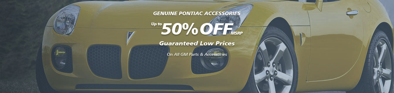 Genuine GM accessories, Guaranteed lowest prices